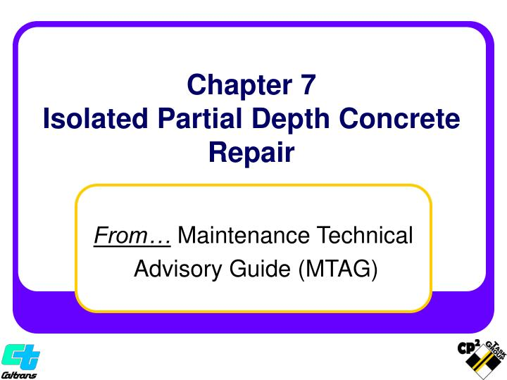 chapter 7 isolated partial depth concrete repair n.