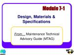 design materials specifications