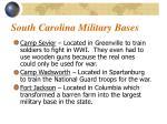 south carolina military bases
