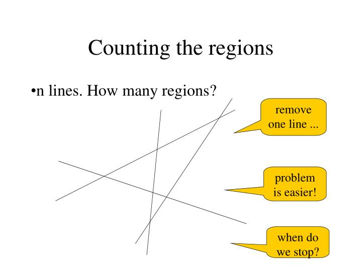 Counting the regions