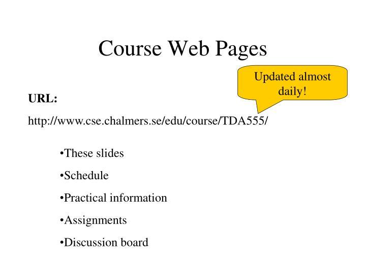 Course Web Pages