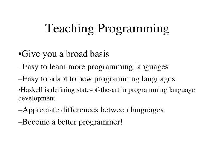 Teaching Programming