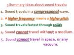 5 summary ideas about sound travels