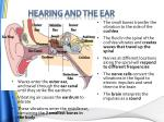 hearing and the ear1