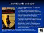 literatura de combate