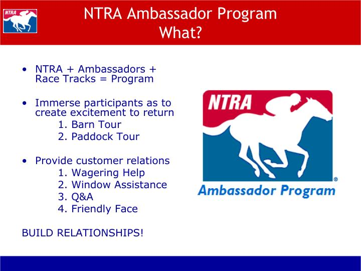 NTRA Ambassador Program