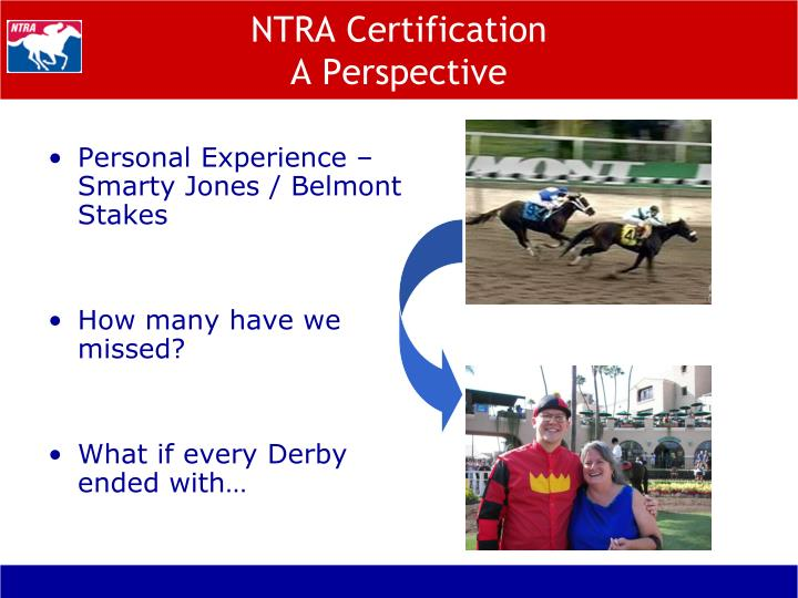 NTRA Certification