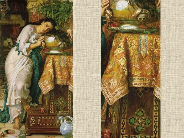 Isabele met de urn van Basil
