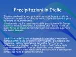 precipitazioni in italia