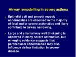 airway remodelling in severe asthma