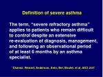 definition of severe asthma