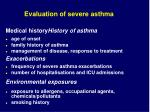 evaluation of severe asthma