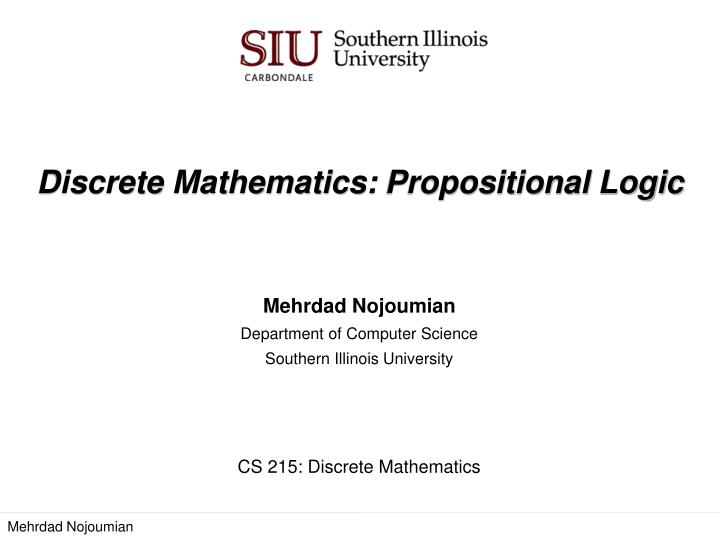 discrete mathematics propositional logic n.