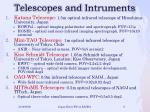 telescopes and intruments