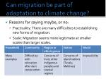 can migration be part of adaptation to climate change1