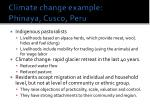 climate change example phinaya cusco peru