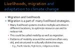 livelihoods migration and adaptation to climate change1