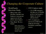 changing the corporate culture