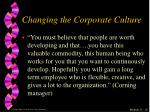 changing the corporate culture2