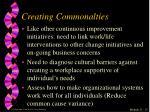 creating commonalties