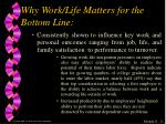 why work life matters for the bottom line