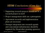 stim conclusions core site