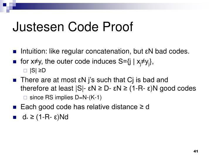 Justesen Code Proof