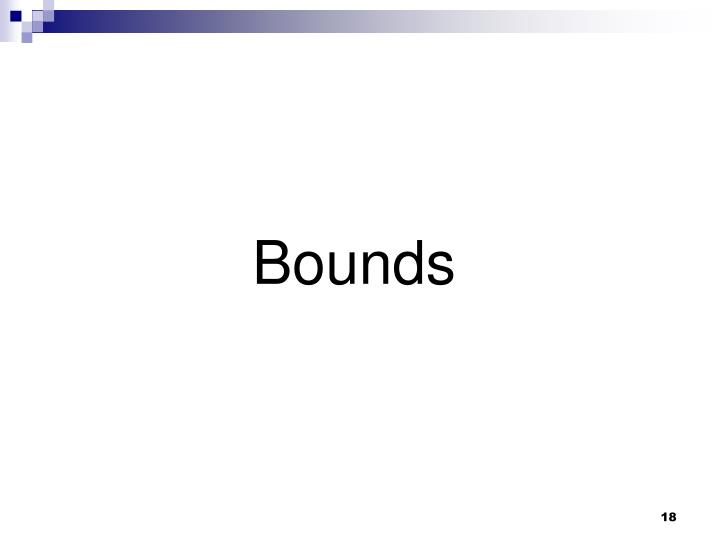 Bounds