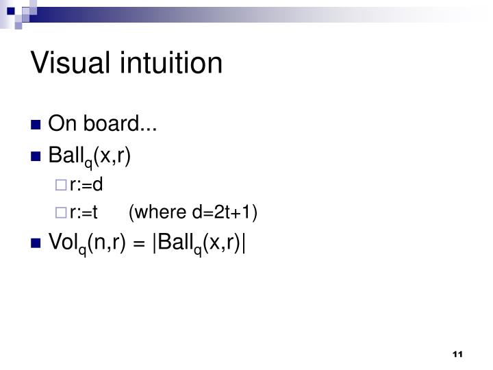 Visual intuition