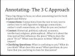 annotating the 3 c approach
