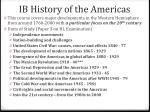ib history of the americas1