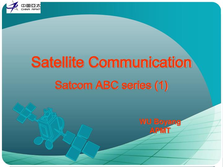 satellite communication satcom abc series 1 n.