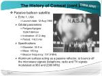 the history of comsat cont
