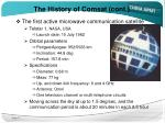 the history of comsat cont1