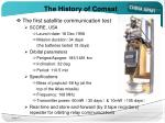 the history of comsat