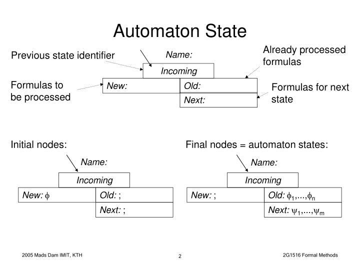 Automaton state