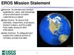 eros mission statement