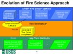evolution of fire science approach