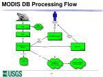 modis db processing flow