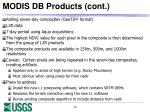 modis db products cont1