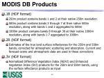 modis db products