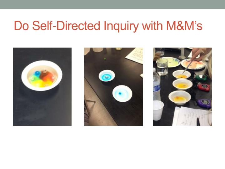 Do Self-Directed Inquiry with M&M's