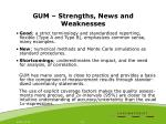 gum strengths news and weaknesses