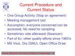 current procedure and current status