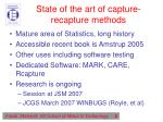 state of the art of capture recapture methods
