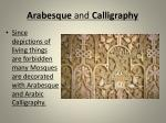 arabesque and calligraphy