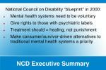 ncd executive summary