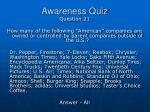 awareness quiz39