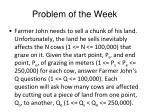 problem of the week