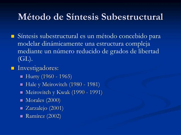 M todo de s ntesis subestructural